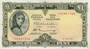 Ireland, 1 Pounds, 1975, XF, p64c