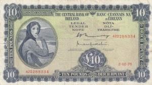 Ireland, 10 Pounds, 1976, VF, p66d