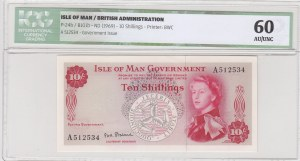 Isle of Man, 10 Shillings, 1969, AUNC, p24b