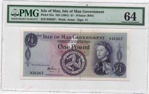 Isle of Man, 1 Pound, 1961, UNC, p25a