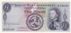 Isle of Man, 1 Pound, 1961, UNC, p25b