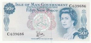 Isle of Man, 50 New Pence, 1972, UNC, p28