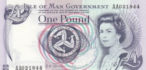 Isle of Man, 1 Pound, 1972, UNC, p29a