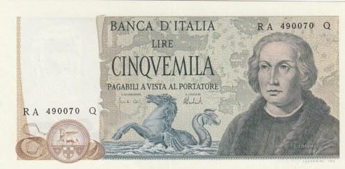 Italy, 5.000 Lire, 1973, AUNC, p102b