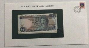 Jersey , 1 Pound, 1976, UNC, p11, FOLDER