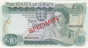 Jersey, 10 Pounds, 1976/1988, UNC (-), p13s, SPECIMEN