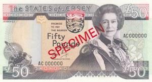 Jersey, 50 Pounds, 1989, UNC, p19s, SPECIMEN