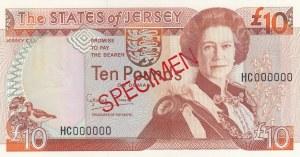 Jersey, 10 Pounds, 1993, UNC, p22s, SPECIMEN