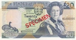 Jersey, 20 Pounds, 2000, UNC, p29s, SPECIMEN
