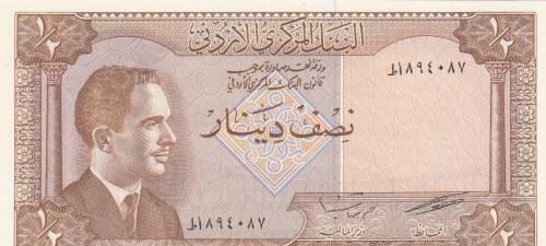 Jordan, 1/2 Dinar, 1959, UNC, p13c