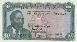 Kenya, 5 Shillings, 1967, XF (+), p2b