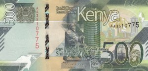 Kenya, 500 Shillings, 2019, UNC, pNew