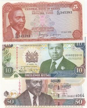 Kenya,  Total 3 banknotes