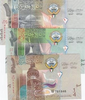 Kuwait, 1/4 Dinar, 1/2 Dinar and 1 Dinar, 2014, UNC, p29, p30, p31, (Total 3 banknotes)