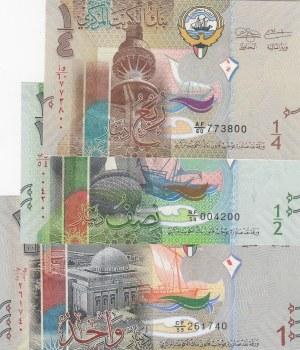 Kuwait,  Total 3 banknotes