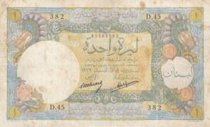 Lebanon, 1 Livre, 1939, FINE (+), p15