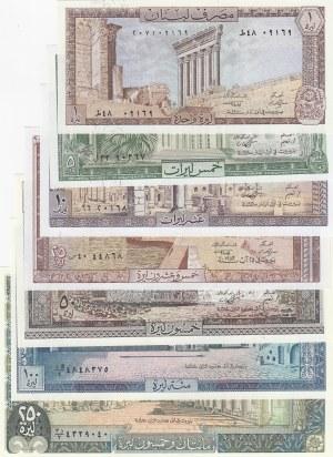 Lebanon,  Total 7 banknotes