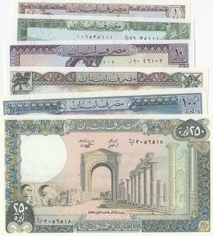 Lebanon,  Total 6 banknotes