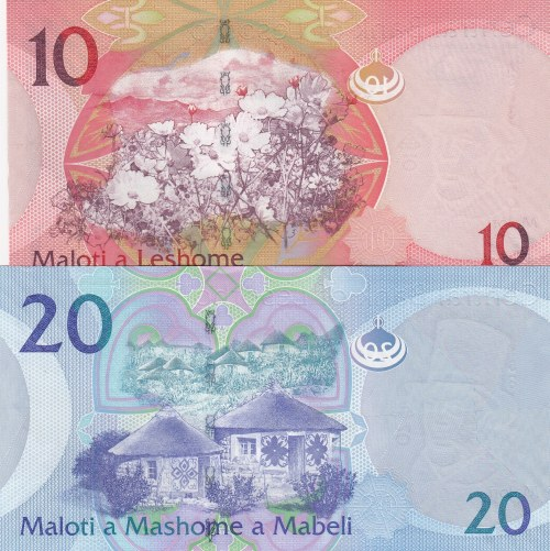 Lesotho,  UNC,  Total 2 banknotes