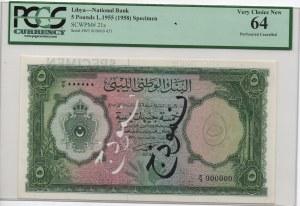 Libya, 5 Pounds, 1958, UNC, p21s