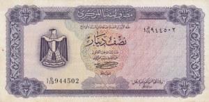 Libya, 1/2 Dinar  , 1972, VF, p34b
