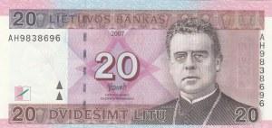 Lithuania, 20 Litu, 2007, UNC, p69