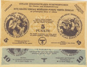 Lithuania, 5 Punkte and 10 Punkte, 1944, UNC,