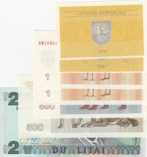 Lithuania,  Total 7 banknotes