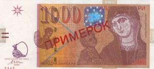 Macedonia, 1.000 Denars, 2003, UNC, p22s, SPECIMEN