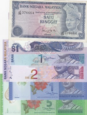 Malaysia,  Total 6 banknotes