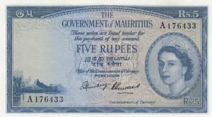 Mauritius, 5 Rupees, 1954, AUNC, p27