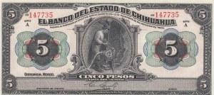 Mexico, 5 Pesos, 1913, UNC, pS132a