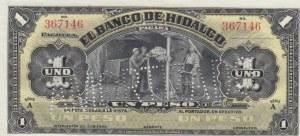 Mexico, 1 Peso, 1914, UNC, pS304, SPECIMEN