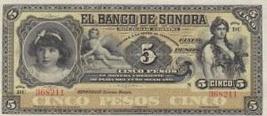 Mexico, 5 Pesos, 1911, UNC, pS419