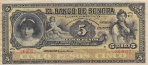 Mexico, 5 Pesos, 1897/1911, XF, pS419r