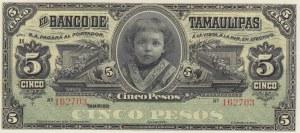 Mexico, 5 Pesos, 1902/1914, UNC, pS429r