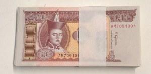 Mongolia, 20 Tugrik, 2018, UNC, pNew, Stack of money