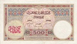 Morocco, 500 Francs, 1948, VF, p15b