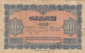 Morocco, 10 Francs, 1943, FINE, p25