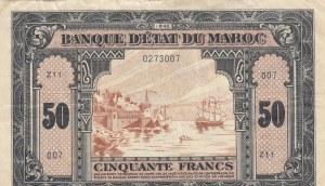 Moracco, 50 Francs, 1943, VF, p26a