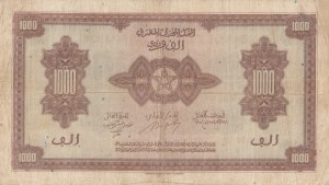 Moracco, 1000 Francs, 1943, VF, p28a