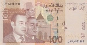 Morocco, 100 Dirhams, 2002, UNC, p70