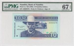 Namibia, 10 Namibia Dollars, 1993, UNC, p1a