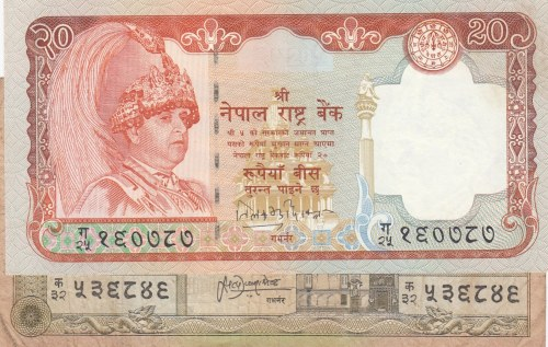 India,  Total 2 banknotes