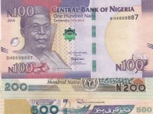 Nigeria,  Total 3 banknotes