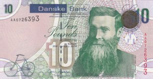 Northern Ireland, 10 Pounds, 2013, UNC, p212