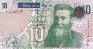 Northern Ireland, 10 Pounds, 2013, UNC, p212a