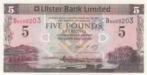 Northern Ireland, 5 Pounds, 2007, UNC, p340a