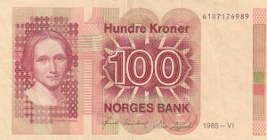 Norway, 100 Kroner, 1985, VF, p43c