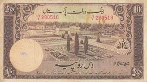 Pakistan, 10 Rupees, 1951, VF, p13